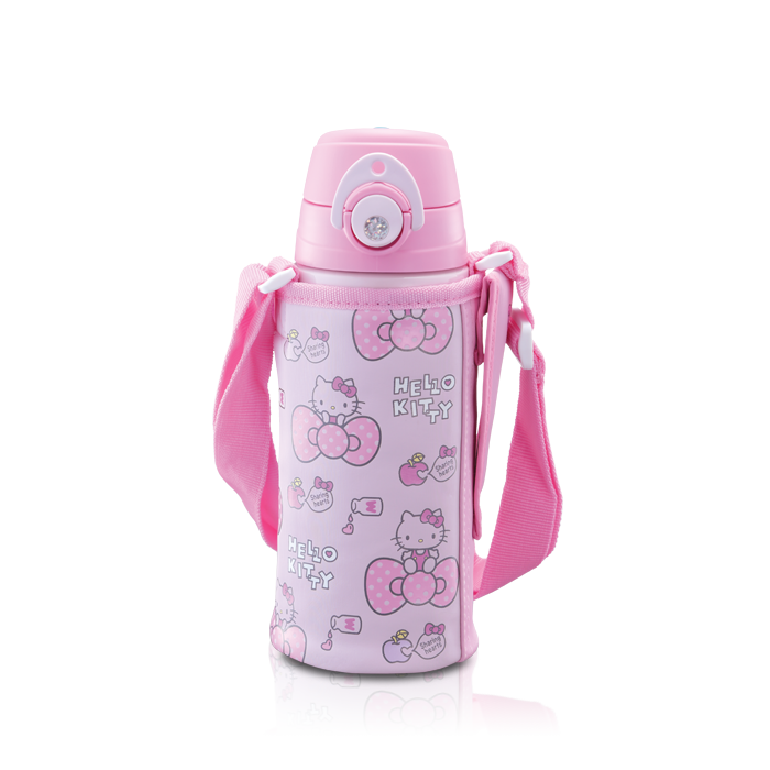 FFG-600 Hello Kitty Dual Stopper Bottle with Pouch